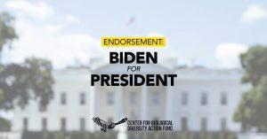Center for Biological Diversity Action Fund Endorses Joe Biden
